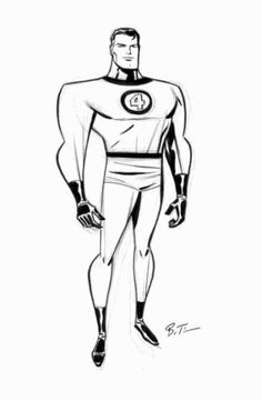 Mister Fantastic by Darwyn Cooke & Bruce Timm Bruce Timm, Comic Book Artists, Comic Artist, Comic Books Art, Mister Fantastic, Fantastic Four, Marvel Comics Art, Marvel Comic Universe, Cartoon Sketches
