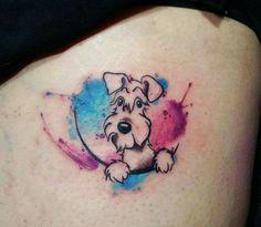 Tattoo watercolor dog style Ideas Tattoo watercolor dog style Ideas tattoo ,tattoo quotes ,t Tattoos For Dog Lovers, Dog Tattoos, Mini Tattoos, Animal Tattoos, Body Art Tattoos, Schnauzer Tattoo, Dog Memorial Tattoos, Bulldog Tattoo, Tattoo Fonts