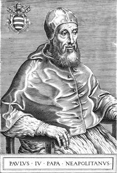 Immagine avente come protagonista Papa Paolo IV: il 223° Papa della Chiesa Cattolica dal 1555 al giorno del suo decesso.