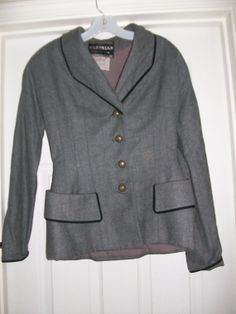 Vintage Parisian Gilbert Original Gray and Black Blazer by MICSJWL, $44.00