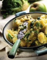 Colcannon Recipe. Made this tonight and it was delish! Great way to use kale with potatoes, and super easy to make too.