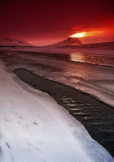 Iceland - Volcano on Iceland. by PatiMakowska.deviantart.com on @deviantART