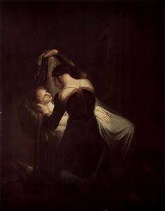"""Füssli, Johann Heinrich """"Romeo at the death bed of Juliette"""""""