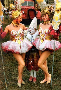 1955 circus performers.