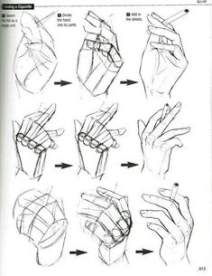 """Anatomy Drawing Tutorial Hand poses - Graphic Sha's """"How to Draw Manga: Drawing Yaoi"""" - Holding a cigarette - - Drawing Skills, Drawing Lessons, Drawing Poses, Drawing Techniques, Drawing Tips, Drawing Hands, Drawing Tutorials, Drawing Tutorial Hands, Hands Tutorial"""