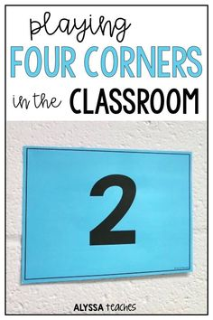 Playing Four Corners in the Classroom - Alyssa Teaches Elementary Teacher, Upper Elementary, Elementary Schools, Class Games, School Games, Classroom Games High School, Pe Games, Drama Games, Group Games
