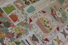Anni Downs new quilt: Gossip in the Garden - very tempting!!