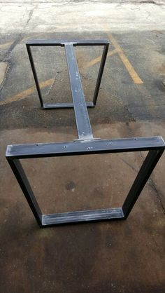 custom order trapezoid steel legs with 1 or 2 braces dining table industrial legs modern steel legs set of 2 legs with 1 or 2 braces