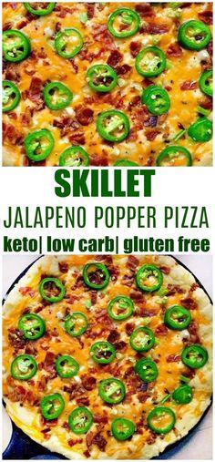 keto skillet jalapeno popper pizza