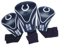 NFL Indianapolis Colts 3 Pack Contour Fit Headcover -- Visit the image link more details. Note:It is Affiliate Link to Amazon.