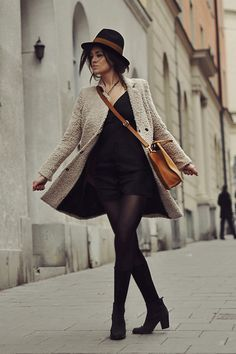 Jacket, Hat, Bag, Shoes, Dress