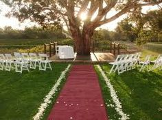Before I know it, I am standing at the top of the aisle in the beautiful spot that is commonly used for wedding ceremonies on the property, surveying the scene before me. Guests have filled the covered chairs that sit either side of the red carpet that I am about to walk up. At the bottom of the aisle is a shady pavilion, amongst a few large eucalyptus trees, where I will be saying my vows. The music is indicating that it is time to move, but my feet feel glued to the floor.