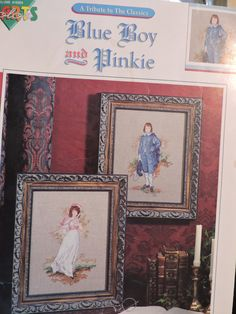 Blue Boy and Pinkie Classic Eighteenth Century Portrait Copies Color Charts Cross Stitch Needlework Chart Booklet No. 10504 Sewing Patterns For Kids, Star Patterns, Vintage Sewing Patterns, Classic Portraits, Fairy Clothes, Color Charts, Raggedy Ann And Andy, Needlepoint Kits, Dmc Floss