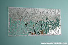 shattered mirror glass made into art - Google Search