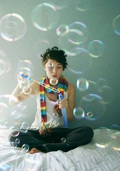 blowing bubbles // #photography