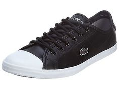 Lacoste Ziane Womens 7-30SPW0027-02H Black Leather Casual Shoes Sneakers Sz 8