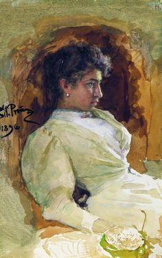 Portrait of Lucy Lewis, 1896 by Thomas Eakins. Oil Painting With A Palette Knife Ilya Repin, Watercolor Portraits, Watercolor Art, Painting Portraits, Russian Art, Russian Painting, Kandinsky, Art World, Painting & Drawing