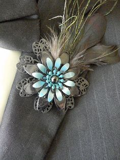 Metal Flower Boutonnieres Brooches Corsages by Creationsbylmc, $12.50