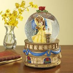 Beauty and the Beast Dancing Snow Globe