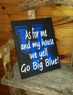 UK Wildcats canvas - any team available on Etsy, $20.00 university of Kentucky wildcats. Go cats! Great gift for fans! Great for Christmas :)