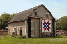 Iowa Barn Quilts-  'Sawthooth Star'