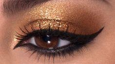 Aprenda a fazer os olhos de Cleopatra