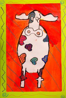 Panther's Palette: 3rd Grade  Peter Diem...patterned cows