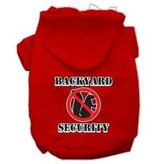 Mirage Pet Products 16 Backyard Security Screen Print Pet Hoodie XLarge Red -- Want additional info? Click on the image. (This is an affiliate link) #Dogapparelandaccessories