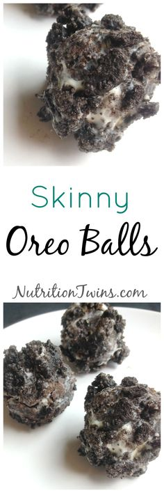 Skinny Oreo Balls | Only 50 Calories Each | Perfect Lightened Up Dessert when You're Trying to Lose Weight | For MORE RECIPES, fitness & nutrition tips please SIGN UP for our FREE NEWSLETTER www.NutritionTwins.com
