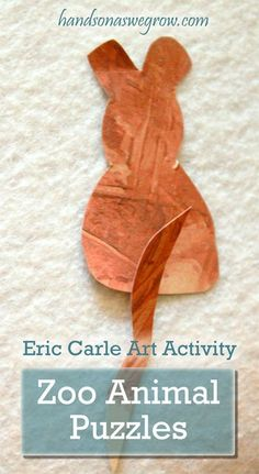 An Eric Carle art activity --  Zoo Animal Puzzles!