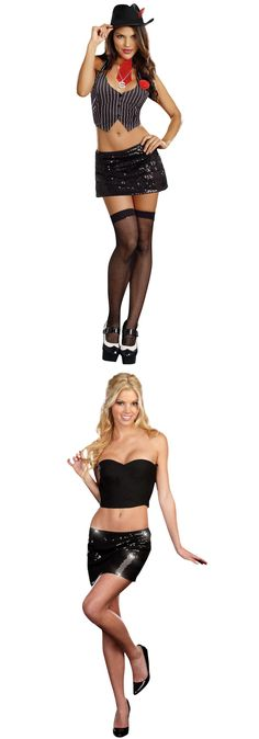 Costume GangsterMobster: Dreamgirl Sexy Pinstripe Gangster Kit Costume Gangster Costume BUY IT NOW ONLY: $25.90