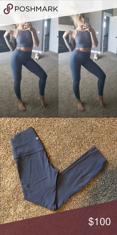 Lululemon Align II Size 4 Shadow Blue (sold out) Warn once No pilling Matching crop available  Smoke free home lululemon athletica Pants Leggings