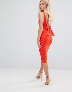 ASOS Petite | ASOS PETITE Bow Back Midi Bodycon Pencil Dress