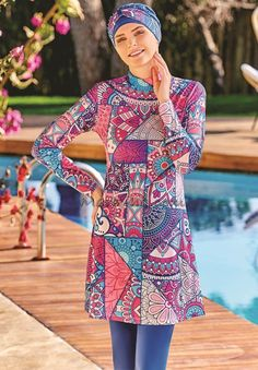 Full Cover 4074 Burkini Swimsuit is one of the most stylish set of 2018 spring - summer collection Full Cover 4074 Burkini Swimsuit details, Islamic Swimwear, Muslim Swimwear, Swim Bra, Red Swimsuit, Swimming Costume, Mode Hijab, Modest Fashion, Women's Fashion, Summer Collection
