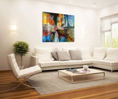 Large Canvas Print Wall Art - 7TH AVENUE - 40x30 Inch Cityscape Canvas Picture Stretched On A Wooden Frame - Giclee Canvas Printing - Hanging Wall Deco Picture / e10850    I love the look of abstract modern wall art.  These trendy, cute, and cool abstract canvas art can bring life, fun and a bit of mystery to a living room or bedroom.  Lately trending has been the use of abstract wall art in game and family rooms.  Surprisingly I have the most pieces of modern abstract canvas wall art in my…