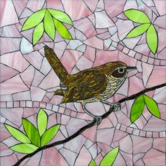 """Wren by Barb Keith  For a hospital in Minneapolis. 14"""" x 14"""""""
