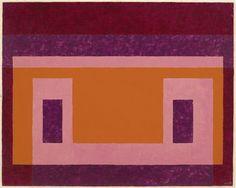 Josef Albers Red, Violet around Orange, Pink, 1948 oil on masonite 17 × 21 in. (43.2 × 53.3 cm)