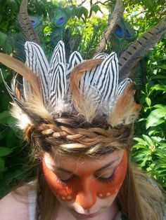 Native american chief head dress and style i created