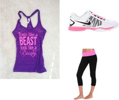 """""""cute workout outfit"""" by reesespiecegirl on Polyvore"""