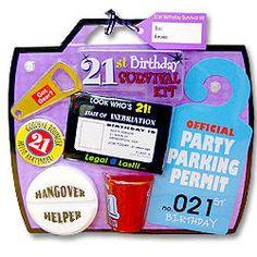 21st Birthday Survival Kit $14.49 #gift