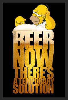 Quadro Poster com Moldura Homer Simpson Cerveja Solução 60x90cm - Decore Pronto