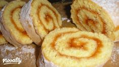 Ízes piskótarolád | Nosalty Hungarian Desserts, Hungarian Cake, Hungarian Recipes, Hungarian Food, Sweet Cookies, Cake Cookies, Baking And Pastry, Cake Recipes, Tart