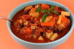 Sweet Potato Vegan Chili -Slow Cooker Recipe