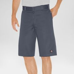 Dickies Men's Relaxed Fit Twill 13 Multi-Pocket Work Short- Charcoal (Grey) 42