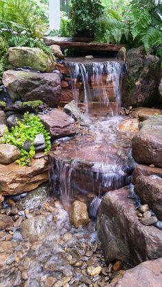 Great - but much lower waterfalls Pondless Waterfalls - Island Garden Features