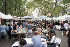 Raise your proverbial hand if you're loving spring in NYC! Now that the weather is, well, perfect for outdoor dinning, several NYC street fairsare s