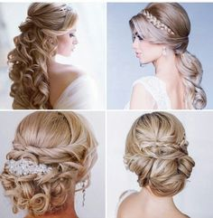 Bridal hair...but could be worn for an evening out