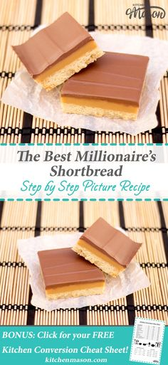 Millionaires Shortbread The Best Caramel Chocolate Bars Traybake Brownie Desserts, Oreo Dessert, Mini Desserts, Coconut Dessert, Easy Desserts, Tray Bake Recipes, Baking Recipes, Cookie Recipes, Dessert Recipes