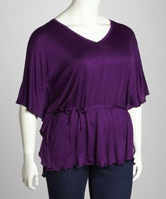 Take a look at this Purple Dolman Top - Plus by GLAM on #zulily today!