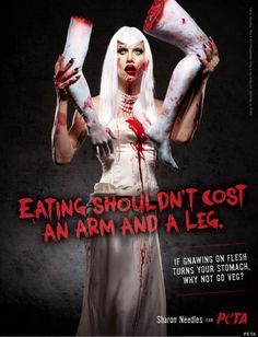 peta ads | ... Race' Contestant Now Star Of Shocking Flesh-Eating PETA Ad | Crosat